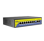 economico -hiseeu 48v 8 porte switch poe con Ethernet 10 / 100mbps ieee 802.3 af / at per telecamera ip / sistema di telecamere di sicurezza cctv / ap wireless