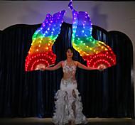 abordables -Accessoires de Danse Accessoires de Scène / Fan Voiles Femme Utilisation 100% Soie LED