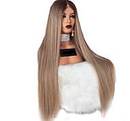abordables -perruque synthétique crépue droite partie médiane perruque longue lumière dorée blond clair rose bordeaux orange cheveux synthétiques 28 pouces femmes femmes blondes (non-dentelle)
