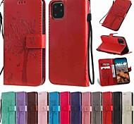 economico -telefono Custodia Per Apple Integrale Custodia in pelle Porta carte di credito iPhone 12 Pro Max 11 SE 2020 X XR XS Max 8 7 6 A portafoglio Porta-carte di credito Con supporto Albero pelle sintetica