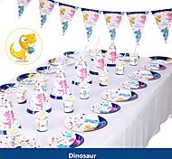 economico -rifornimenti della decorazione del partito del tema del dinosauro della festa di compleanno della doccia di bambino rifornimenti delle stoviglie del piatto della tazza di carta dell'unicorno