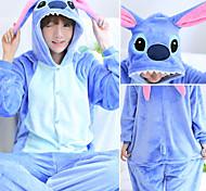 abordables -Adulte Pyjama Kigurumi Dessin-Animé Monstre bleu Combinaison de Pyjamas Molleton Bleu / Rose Cosplay Pour Homme et Femme Pyjamas Animale Dessin animé Fête / Célébration Les costumes