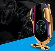 economico -caricatore wireless per auto r1 bloccaggio automatico intelligente qi wireless 10w ricarica rapida sensore a infrarossi 360 rotazione presa d'aria supporto del telefono per iphone 11 pro xr xs huawei