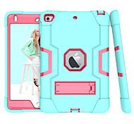 economico -telefono Custodia Per Apple Per retro iPad Mini 3/2/1 iPad Mini 4 iPad Mini 5 Resistente agli urti Con supporto Tinta unita TPU PC