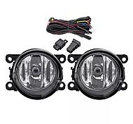 abordables -2pcs phares antibrouillard avant de voiture avec h11 lampes harnais paire pour mitsubishi outlander sport / rvr / asx