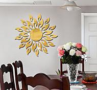 economico -Specchio 3d sun flower art adesivo da parete rimovibile acrilico murale decalcomania home room decor adesivi decorativi caldi 50 * 50 cm