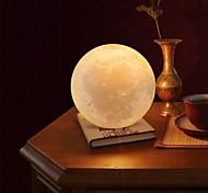 economico -lampada lunare luce notturna a led globo 3d luminosità alimentato a batterie decorativo per la casa per bambino bambino capodanno regalo di natale supporto in legno 10 cm x 10 cm