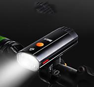 economico -LED Luci bici Luce frontale per bici LED Bicicletta Ciclismo Portatile Uscita di ricarica USB Solare 600 lm Batteria ricaricabile Bianco Ciclismo / Rotazione a 360° / IPX 6
