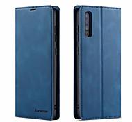 economico -telefono Custodia Per Samsung Galaxy Integrale Custodia in pelle Custodia flip A6 (2018) A8 2018 A7 A10 A30 A50 M10 A20 A40 A90 Porta-carte di credito Con chiusura magnetica Tinta unita pelle