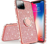 abordables -téléphone Coque Pour Apple Coque Arriere Silicone iPhone 12 Pro Max 11 SE 2020 X XR XS Max 8 7 6 Antichoc Strass Avec Support Brillant TPU