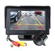 abordables -ziqiao 4,3 pouces moniteur de voiture pliable tft lcd caméras d'affichage inverser le système de stationnement de caméra pour la vue arrière de voiture surveille ntsc pal