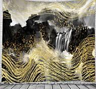abordables -Peinture à l'encre de Chine style tapisserie murale art décor couverture rideau suspendu maison chambre salon décoration abstraite cascade montagne