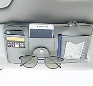 abordables -organisateurs de voiture cd cas / titulaire de la carte / lunettes clips en cuir PU / nylon / voiture pare-soleil sac de rangement