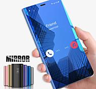 economico -telefono Custodia Per Samsung Galaxy Integrale S9 S9 Plus S8 Plus S8 Bordo S7 S7 A6 (2018) A6+ (2018) A3 A5 Resistente agli urti Con supporto Placcato Tinta unita PC
