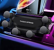 abordables -Accroche Support Téléphone Automatique Téléphone Portable Grille de sortie d'air Type de gravité Ajustable ABS Accessoire de Téléphone