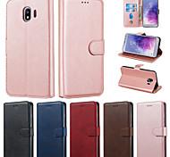 economico -telefono Custodia Per Samsung Galaxy Integrale Custodia in pelle Porta carte di credito J8 (2018) J7 J7 (2016) J5 Prime J6 J6 Altro J5 J5 (2016) J4 (2018) J4 Altro A portafoglio Porta-carte di