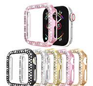 economico -Custodie Per Apple  iWatch Apple Watch Serie SE / 6/5/4/3/2/1 Plastica Proteggi Schermo Custodia per Smartwatch  Compatibilità 38 millimetri 40 mm 42 millimetri 44mm