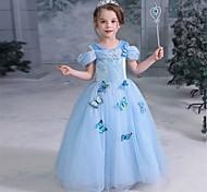 economico -Da principessa Vestiti Da ragazza Cosplay di film Da principessa vestito da vacanza Blu Abito Halloween