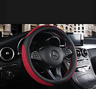 abordables -volant en cuir respirant et résistant à l'usure, housse de voiture en cuir universelle quatre saisons, plaque carrée cousue à la main
