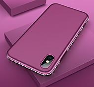 abordables -étui de téléphone de luxe bling diamond tpu pour iphone 11 pro max / iphone 11 pro / iphone 11 / xs max xr xs x 8 plus 8 7 plus 7 6 plus 6 cadre sexy en strass silicone couverture de protection