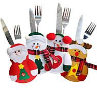 economico -Set di stoviglie natalizie 4 pezzi set di coltelli e forchette natalizi