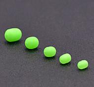 economico -100 pcs Pesca UV Beads morbida Glow Accessori di pesca Gomma da cancellare Pesca di mare Pesca a mosca Pesca a jigging