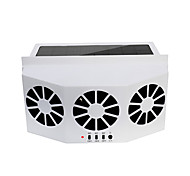 economico -auto ventilatore 3 ventole di raffreddamento ventola di raffreddamento a energia solare ventola di sicurezza auto portatile portatile