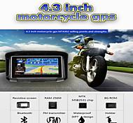 abordables -4.3 pouces étanche ipx7 moto gps navigation moto navigateur avec fm bluetooth 8g flash prolech voiture gps tracker win ce support a2dp écouteurs + carte gratuite