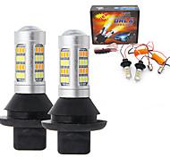 abordables -2pcs T20 (7440,7443) Automatique Ampoules électriques SMD 2835 LED Feux de Circulation Diurnes / Clignotants Pour Toyota / Nissan / Mitsubishi Toutes les Années