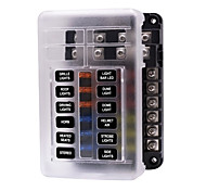 economico -Circuito automatico per auto 32v / scatola dei fusibili indipendente in entrata e in uscita multipla positiva e negativa indipendente con spia luminosa 1 in 12 in uscita / doppio fusibile di