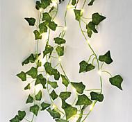abordables -2m Plantes Artificielles LED String Light Creeper Feuille Verte Lierre Vigne 6pcs 3pcs 1pc pour la maison de décoration de mariage lampe bricolage suspendu jardin cour (sans batterie)
