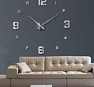 abordables -horloge montre horloges murales horloge 3d diy acrylique miroir autocollants décoration de la maison salon aiguille de quartz