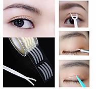 abordables -600pcs autocollant de bande de paupière invisible double pli pate de paupière clair bande beige auto-adhésif naturel bande de maquillage des outils de maquillage