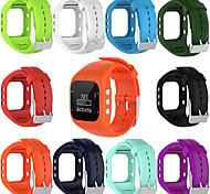 abordables -1 pièces Bracelet de Montre  pour Polaire Bande de sport Silikon Sangle de Poignet pour Polar A300
