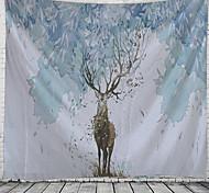 abordables -Peinture à l'encre de Chine style tapisserie murale art décor couverture rideau suspendu maison chambre salon décoration abstrait animal cerf
