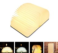 abordables -Portable usb livre en bois Ampoules LED lampe veilleuse livre pliant rechargeable blanc chaud chevet bureau lampe de lecture créatif noël nouvel an cadeau
