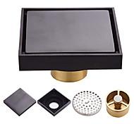 abordables -Laiton au sol salle de bain douche drain de sol filtre de sol carré simple filtre de drainage évier de toilette