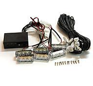 economico -1 pz auto 12 v 6 ambra led lampeggiante griglia luci bar stroboscopiche avviso guasto recupero