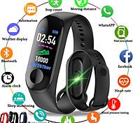 abordables -YY-W3/M3PLus Montre intelligente avec bracelet pour Android iOS Bluetooth 0.96 pouce Taille de l'écran IPX-6 Niveau imperméable Imperméable Ecran Tactile Moniteur de Fréquence Cardiaque Mesure de la