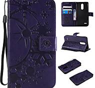 economico -telefono Custodia Per LG Integrale Custodia in pelle Porta carte di credito LG V30 LG K10 2018 LG K10 (2017) LG K8 (2017) LG K4 (2017) LG G6 LG G5 LG G4 LG G3 A portafoglio Porta-carte di credito Con