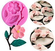 abordables -1 pc forme de fleur de pêche moules fondant moules à gâteaux outils de décoration chocolat moule savon gâteau stencils cuisine bricolage outils
