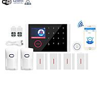 economico -wifi + gsm multi-rete lingua antifurto gsm antifurto wifi casa allarme host wireless campanello sistema di allarme altri / sistemi di allarme domestici / allarme host gsm + wifi ios / piattaforma