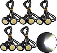 abordables -10 pcs 18 mm voiture eagle eye DRL LED feux de jour LED 12 V de secours recul signal de stationnement automobiles lampes DRL voiture style