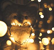 economico -5m Fili luminosi 50 LED SMD 0603 1pc Bianco caldo Bianco Multicolore Impermeabile Feste Decorativo Batterie alimentate