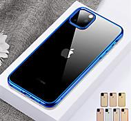 economico -telefono Custodia Per Apple Per retro iPhone 12 Pro Max 11 Pro Max Resistente agli urti Traslucido Tinta unica TPU