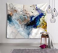 abordables -Peinture à l'encre de Chine style tapisserie murale art décor couverture rideau suspendu maison chambre salon décoration abstrait oiseau animal