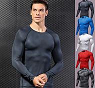 abordables -YUERLIAN Homme Manches Longues Chemise de compression Tee-shirt Shirt Dessus de la couche de base Athlétique Elasthanne Respirabilité Séchage rapide Poids Léger Yoga Aptitude Exercice Physique Tenue