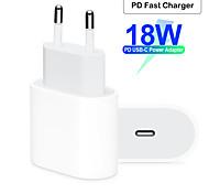 abordables -Chargeur rapide / chargeur portable Chargeur USB Plug UE qc 2.0 / normal 1 port USB 2 a 100 ~ 240 v pour apple