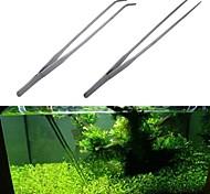 abordables -pince à épiler en acier inoxydable réservoir pince plantes pincettes pince pince aquarium
