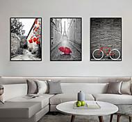 economico -Stampe con cornice Set con cornice - Paesaggi Pittoresco Polistirolo Foto Decorazioni da parete